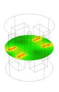 Modelování magnetického pole v centrálním řezu modulátoru
